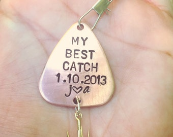 Fishing Lure, Boyfriend Gift, Hooked On You, Fishing, Gifts For Men,  My Best Catch, Personalized Fishing Lure,natashaaloha