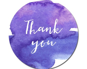 50 stickers Thank you, thank you sticker watercolor