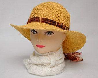 Crochet Sun Hat women Travel gift for Her Wanderlust Womens gift Mom gift Summer Hat Womens Beach Accessory Womens Hats Brim hat Classic Hat