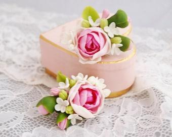 Peony Flower Earrings, Peony Earrings, Flower Girl Earrings, Fashion Jewelry, Handmade Jewelry, Women Jewelry