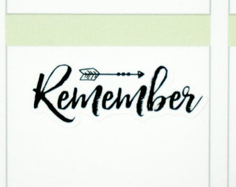 39 Remember Stickers  | Planner Stickers designed for use with the Erin Condren Life Planner | 0722