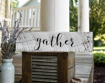 Gather pallet sign.  Thanksgiving, gather, dining room, fall decor, autumn, blessed sign, blessed, gather sign, gather wood sign, fall sign.