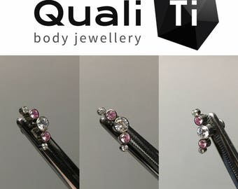 """The """"Aurora"""" cubic zirconia crystal cluster and labret!"""