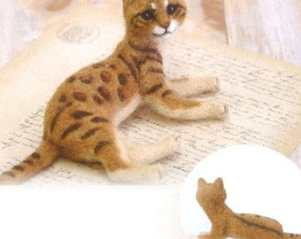 DIY handmade Wool Felt kit Bengal -  Japanese kit package H441-467
