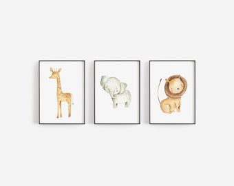 Safari Nursery Decor, Nursery Wall Art, Safari Wall Art, Giraffe Wall Art, Printable Wall Art, Nursery Decor, Nursery Art, Jungle Nursery