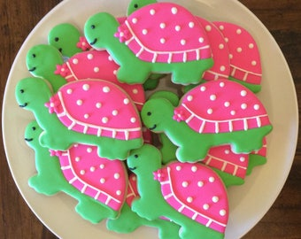 One Dozen Turtle Sugar Cookies