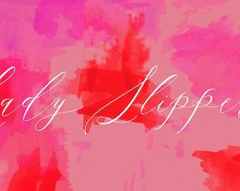 Lady Slippers Font Bundle