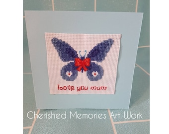 Love you mum butterfly card
