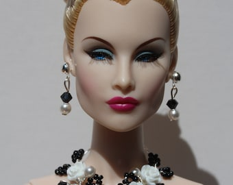 ooak jewelry set with hair ornament for Fashion Royalty, Poppy Parker