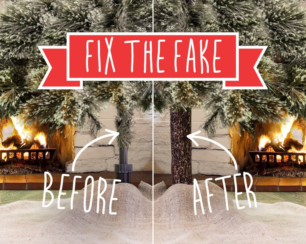 FIX UGLY POLE & beautify your artificial Christmas tree this