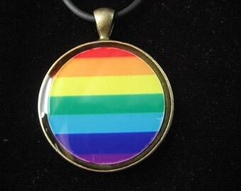 "Resin pendant pop ""Rainbow"""
