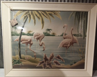"1950's vintage Flamingo ""Turner"" Print"