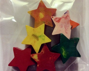 Set of 6 Medium Star Crayons