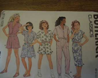 Butterick 4770, sizes 7-10, girls, jumpsuit and dress, UNCUT sewing pattern, craft supplies
