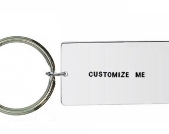 large keyring- Custom Keyring- Personalised Keyring- Hand Stamped Keyring- Custom Keychain- Personalized Keychain- Customisable Keyring