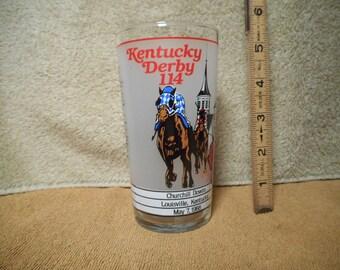 Official 1988 Kentucky Derby Glass, 114th Race