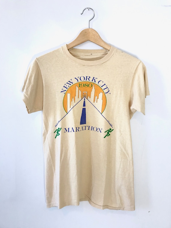 Vintage 1980s Stedman New York City Marathon '85 Tee L Made In USA 4TYZ0ie