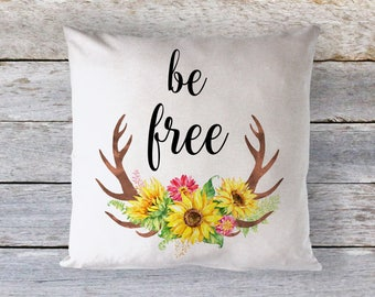 Be Free Throw Pillow - Throw Pillow - Decorative Pillow - Home Decor - Quote Pillow - Inspirational Quote - Motivational Pillow - Typography