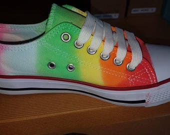 Rainbow canvass shoes