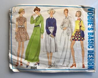Bust 32 1960's Vogue Basic Design 2334