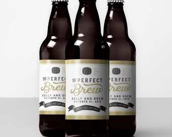 The perfect brew labels, the perfect brew beer labels, custom beer sticker, custom beer labels, custom labels for beer, beer bottle labels