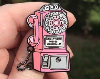 HS Phone Enamel Pin