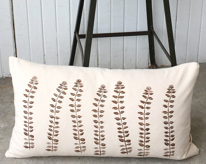 Organic canvas pillow brown cream nordic style hygge pillow scandinavian pillow eco-friendly pillow cover fits ikea pillow insert minimalist