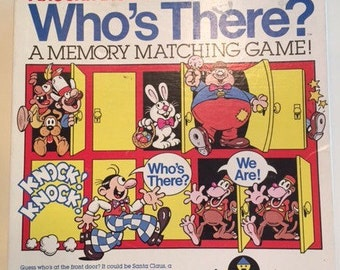 Complete 1982 Knock Knock Who's There?  By Colorforms