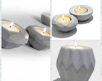 Cement Candlestick mold silicone molds Concrete candle holder three shape for home decorations cement life supplies mold