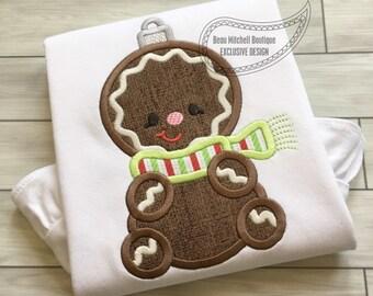Gingerbread ornament applique
