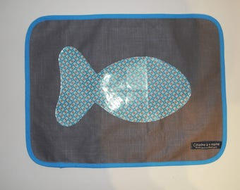 Set of table linen, fish theme