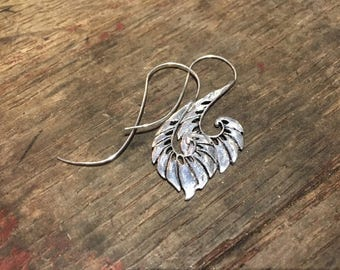 Beautiful silver Wings Earrings