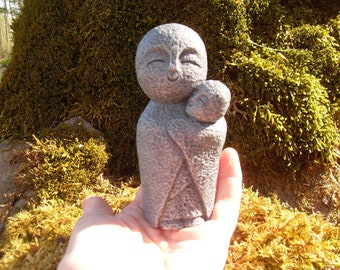 Jizo Statue, Buddha Statues, Protector of Children, Garden Jizo Statue, Child Memorial, Spiritual Décor, Jizo Garden Décor, Miscarriage Gift