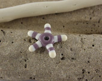 Purple Lampwork Glass star