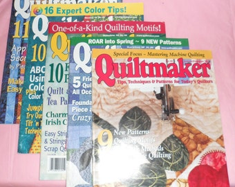 QUILTMAKER Magazines/1998/1999/and 3 from 2002/Super Condition, no tears, no Missing Pages
