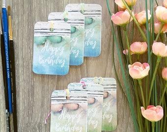 Gift Tags Handmade Birthday/Pack of 6