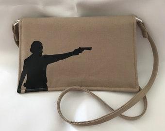 The Walking Dead Rick Grimes Silhouette Fold-over Crossbody Handbag