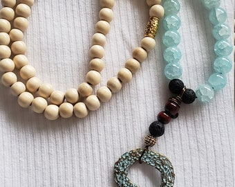 Beachy long boho necklace