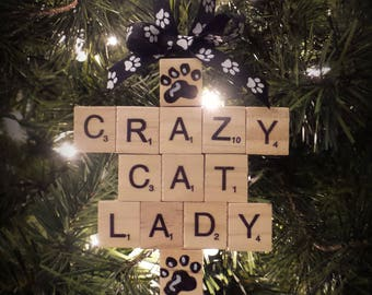 Gift for Cat lover - Crazy Cat Lady Gift - Cat Mom Christmas - Cat Mom Xmas - Gifts Under 10 - Cat Mom Present - Cat Mom Ornament - Xmas Cat