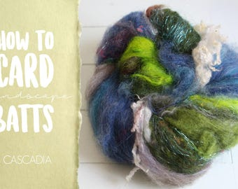 How to Card CASCADIA Art Batt on a Drum Carder - One Technique from Carding Landscapes Masterclass