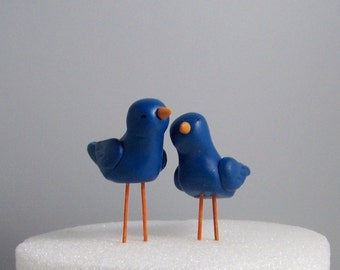 Bird Wedding Cake Topper -- Cake or Pie Topper Home Decor - Colors of Choice