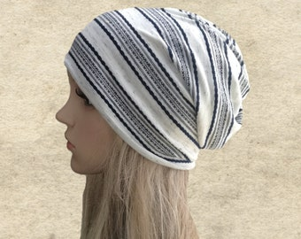 Women's slouchy hat, Slouchy beanie hat, Slouchy hat women, Slouch beanie hat, Striped slouchy hat, Stripy beanie hat, Light weight hats