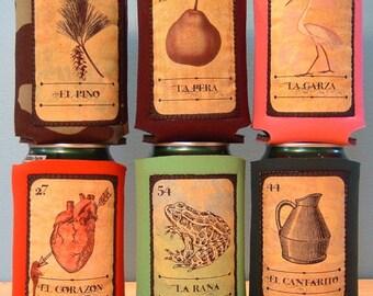 Loteria Mexican Bingo 6 Pack Drink Holders (SET 2)- Handmade
