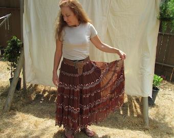 Handmade Bohemian Tiered Skirt
