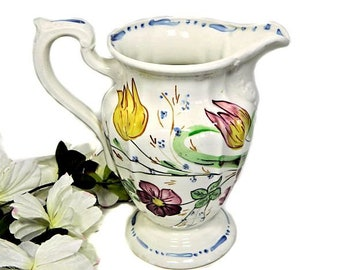 Blue Ridge Southern Potteries Hand Painted Milady Water Pitcher Elegance Pattern