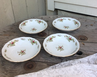 Johann Haviland Moss Rose Soup Bowls