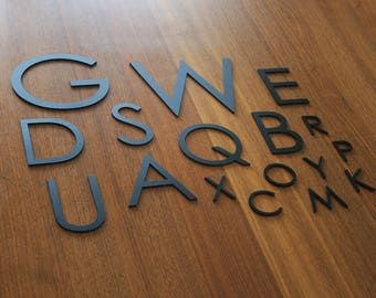 Acrylic Letters Century - Home Address - Office Plaque Signs - Wall Door Decoration - Custom Name Text - Black White Gold Silver