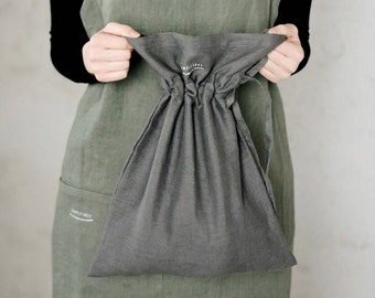Linen bread bag - washed linen - available in 18 colors