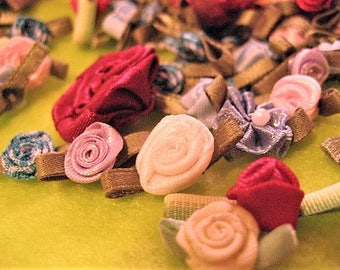 Satin Roses - Mixed Lot, Over 100 Pieces