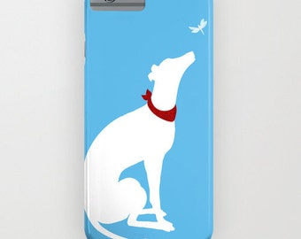 Greyhound Dog And the Dragon Fly On Phone case - greyhound, silhouette, Samsung Galaxy S7, iPhone 6S, iPhone 6 Plus, iPhone 8